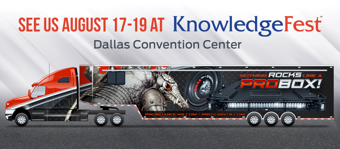 Come see us at KnowledgeFest August 17-19, 2018 at the Dallas Convention Center!