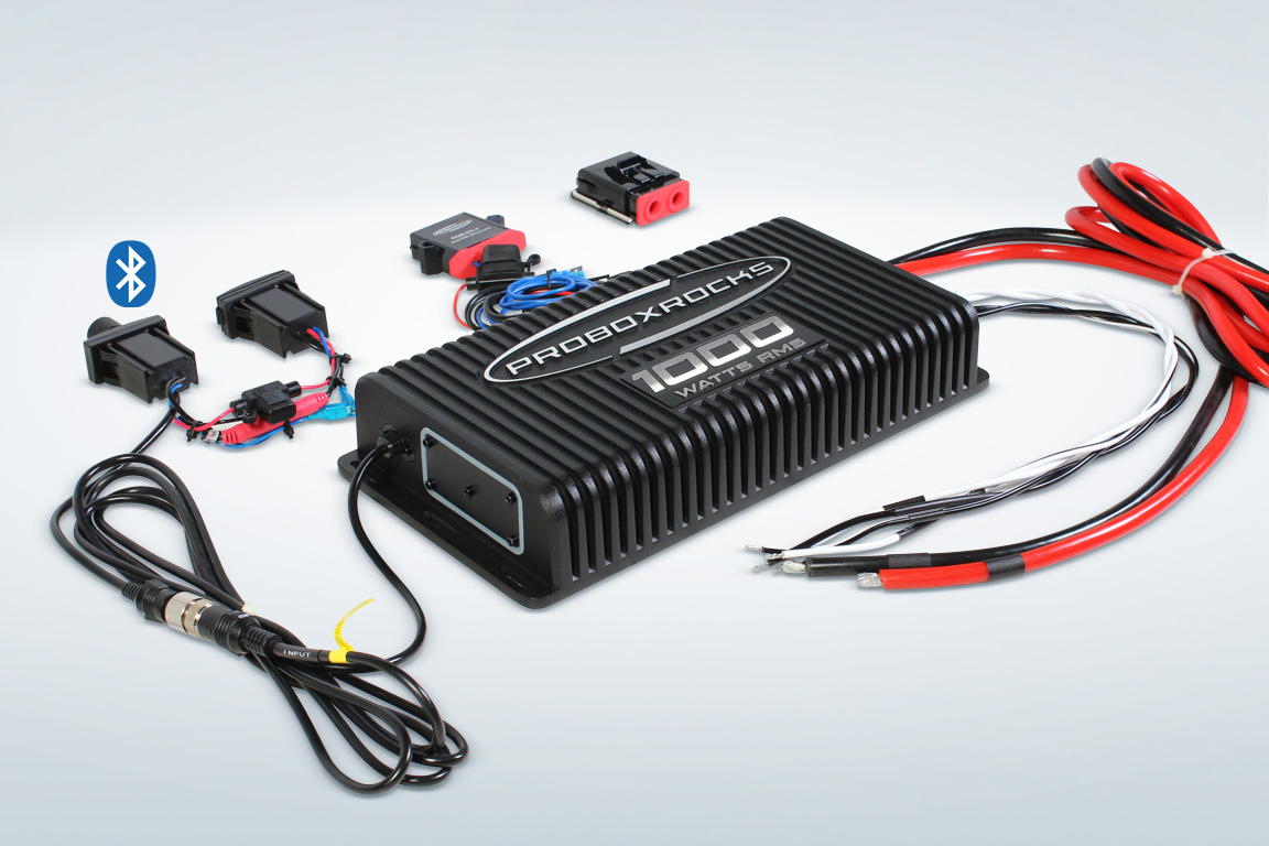 Pbr10002 800 Watt Amplifier Wiring Kit 1000 W 2 Channel Off Road Audio With Bluetooth Controller
