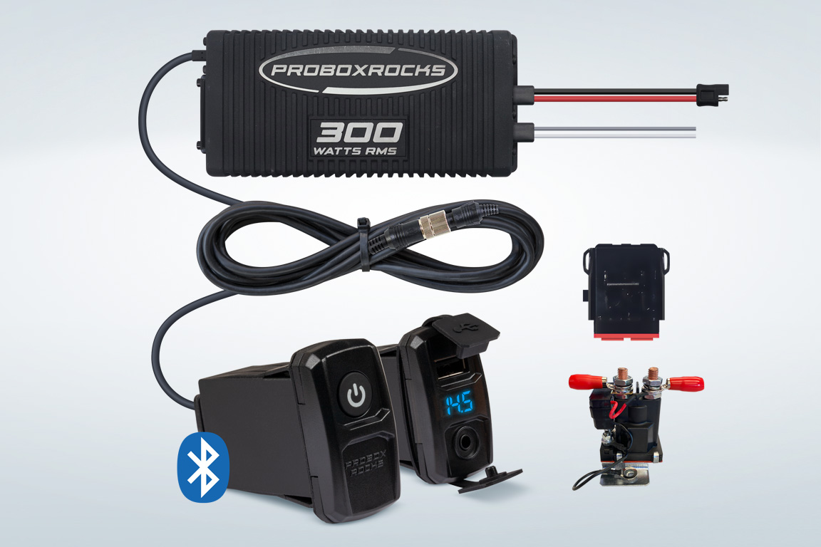 Pbr3002 Kawasaki 500 Wiring Diagram 300w Off Road Audio Amplifier Kit With Bluetooth Controller