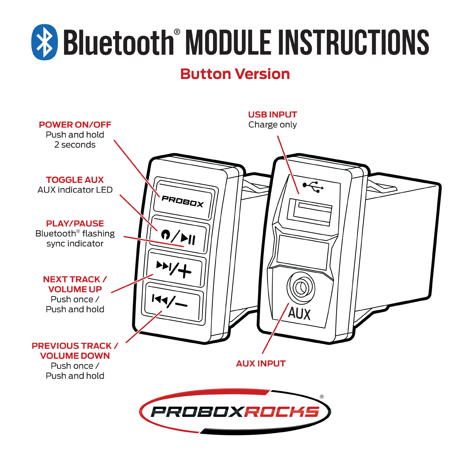 Bluetooth button module instructions